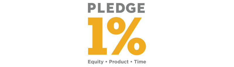 1% Pledge logo